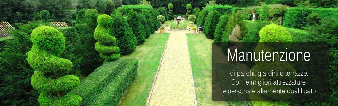Mnutenzione di parchi, giardini e terrazze